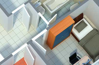 immobilien marketing 3d grundriss