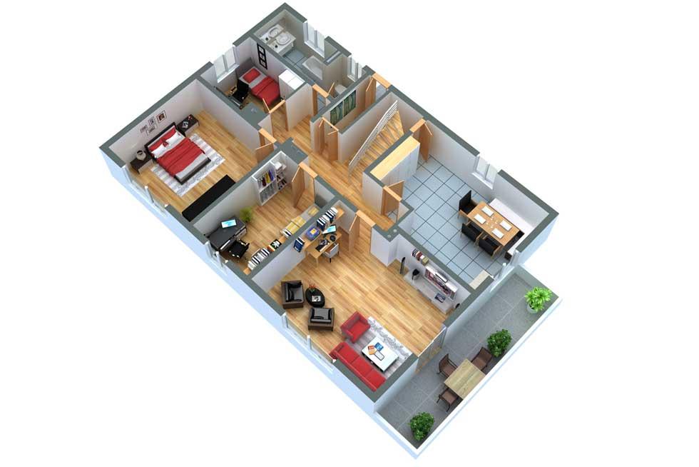Grundrissprofi 3d grundriss for Wohnung gestalten 3d