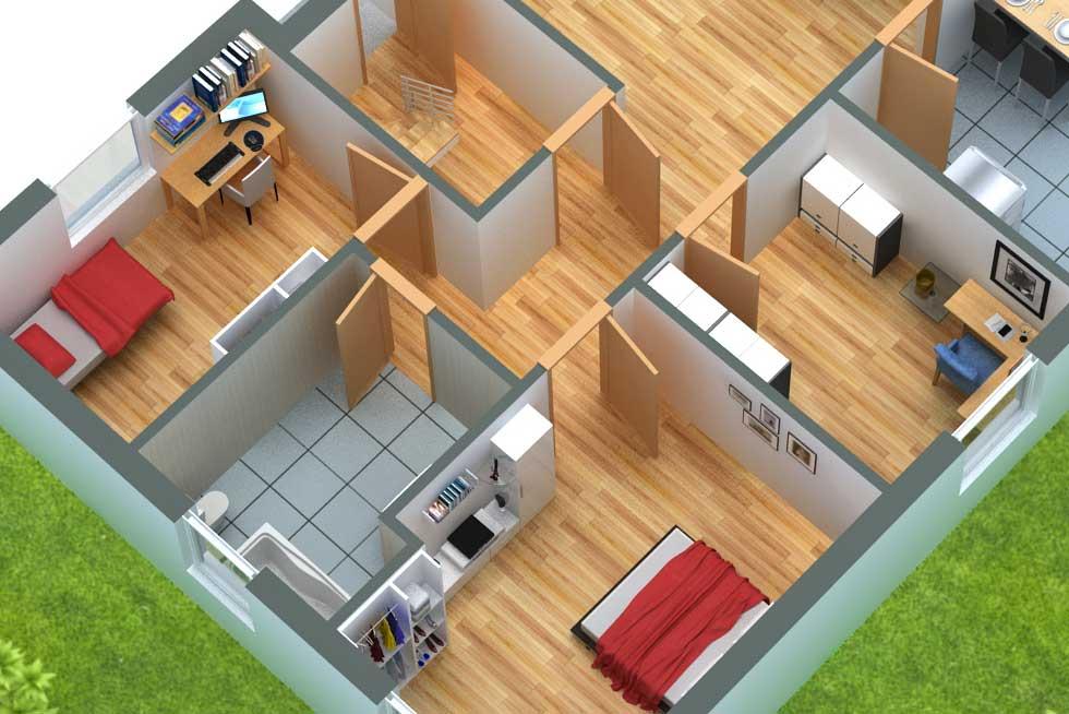Hauspläne 3d  GRUNDRISSProfi • 3D Grundriss