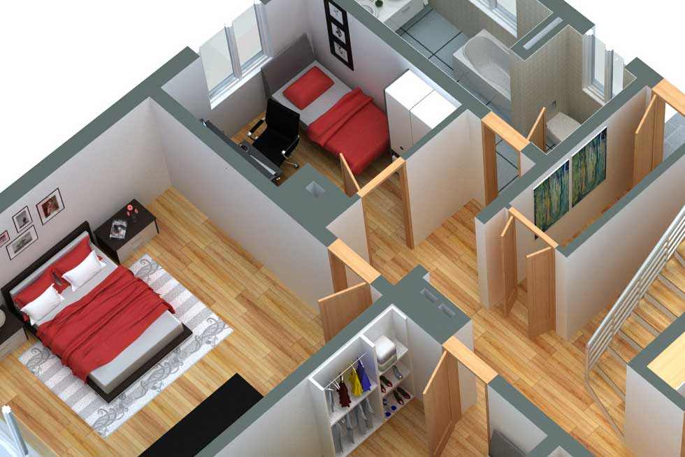 Grundriss in 3D Design 21