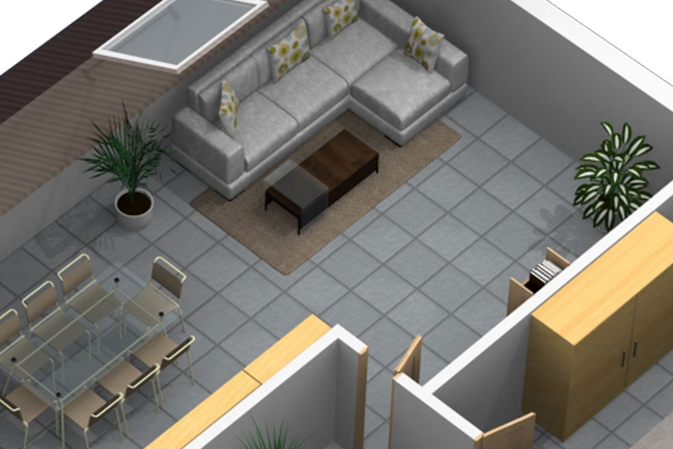 Grundriss in 3D Design 5