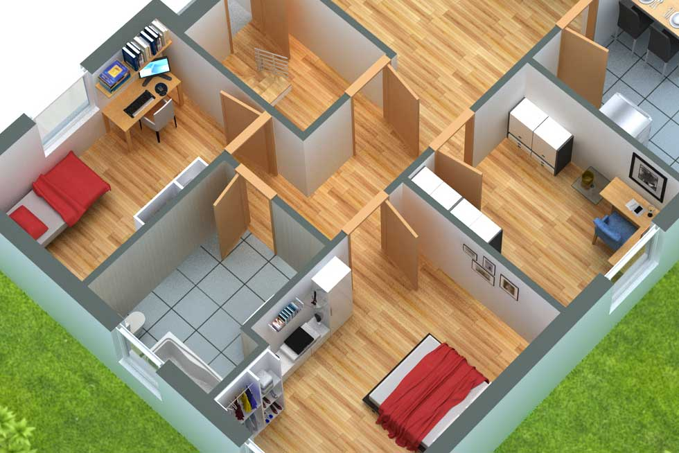 Grundriss in 3D Design 51