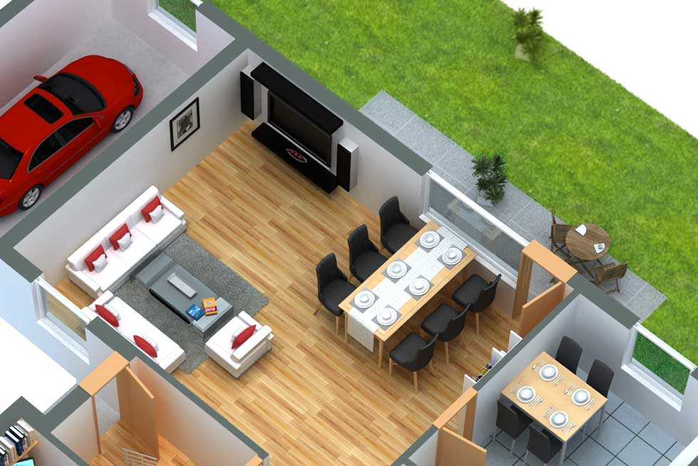 Grundriss in 3D Design 52