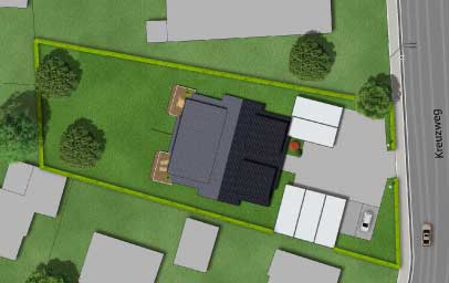 immobilien marketing 3d lageplan