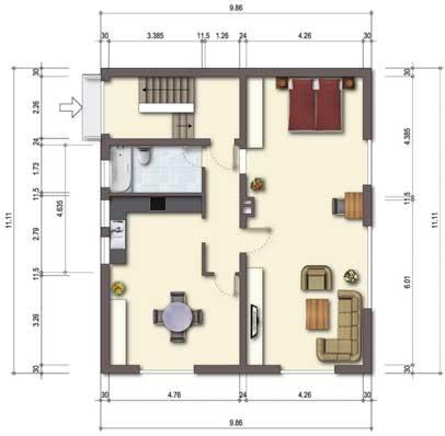 grundrissprofi ma e am rand von grundriss bauzeichnung. Black Bedroom Furniture Sets. Home Design Ideas